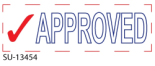 "2 Color ""Approved"" <BR> Title Stamp"