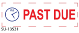 "2 Color ""Past Due"" <BR> Title Stamp"
