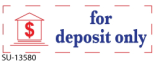 "2 Color ""For Deposit"" <BR> Title Stamp"