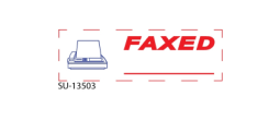 "SU-13503 - 2 Color ""Faxed"" <BR> Title Stamp"